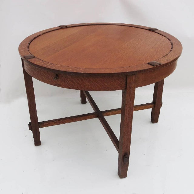 Arts and Crafts Flip-Top Game Table C. 1910 - Image 4 of 4