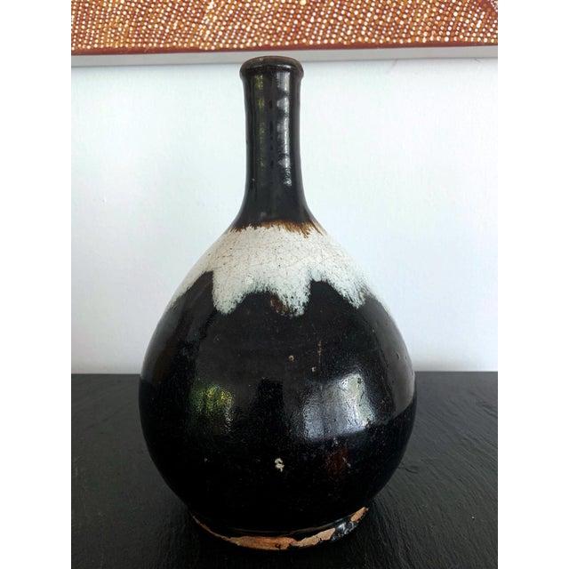 Japanese Ceramic Sake Bottle Chosen Karatsu Ware For Sale - Image 4 of 12