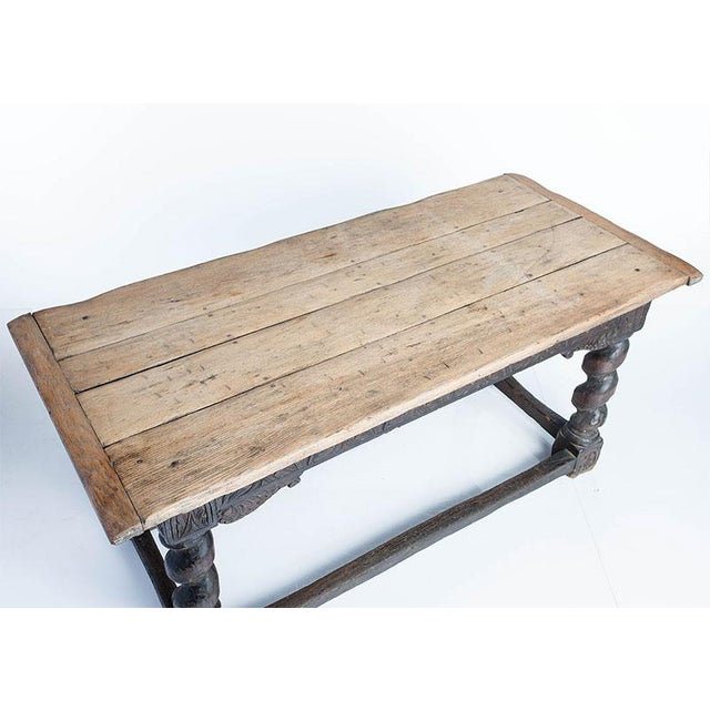 Rustic Oak Library Table For Sale - Image 3 of 4