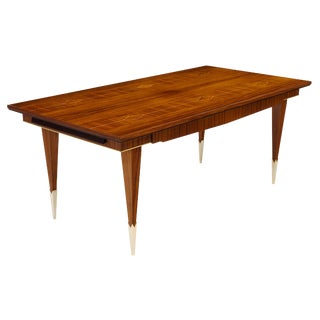 French Mid-Century Brazilian Rosewood Dining Table For Sale