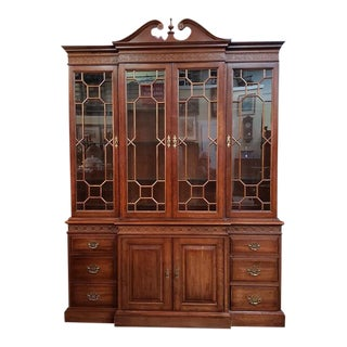 Vintage Mahogany Breakfront Cabinet by Pennsylvania House For Sale
