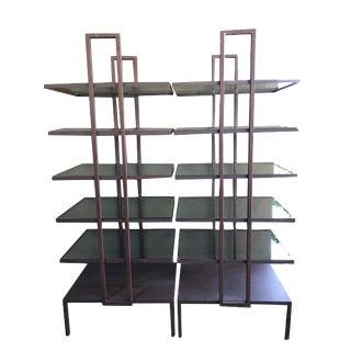Industrial Glass Shelves - a Pair
