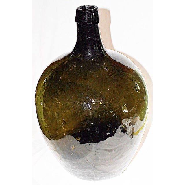 Green Demijohn Blown Bottle - Image 3 of 7