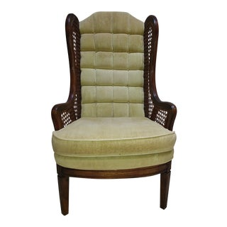 1960s Vintage High Back Lounge Chair For Sale
