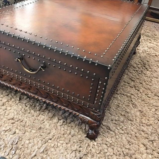 Ralph Lauren Dalton Leather Cocktail Table For Sale - Image 5 of 11