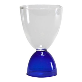 Mamo Cocktail Glass in Blue For Sale