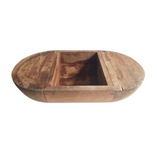 Large Wooden Trencher Bowl For Sale