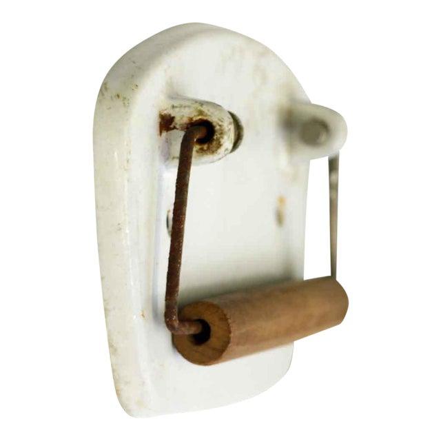 Vintage White European Toilet Paper Holder Chairish