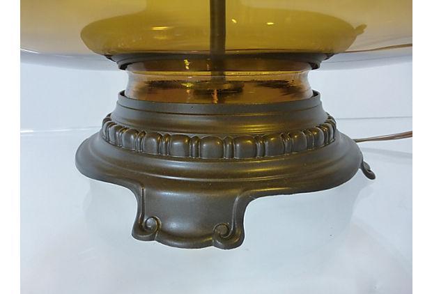 Transparent Amber Glass Table Lamp Chairish