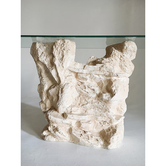 Abstract Sirmos Quarry Style Plaster Console Table For Sale - Image 3 of 8