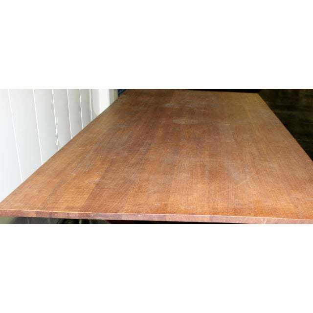 Custom X Base Dining Table For Sale In Los Angeles - Image 6 of 10