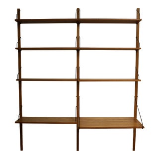 Mid Century Modern Poul Cadovious Danish Wall Unit Bookshelf Scandinavian 1960s For Sale