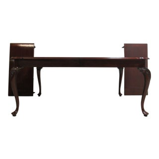 Knob Creek Queen Anne Banded Cherry Dining Room Banquet Table