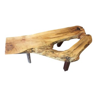 Sugar Maple Slab Coffee Table For Sale