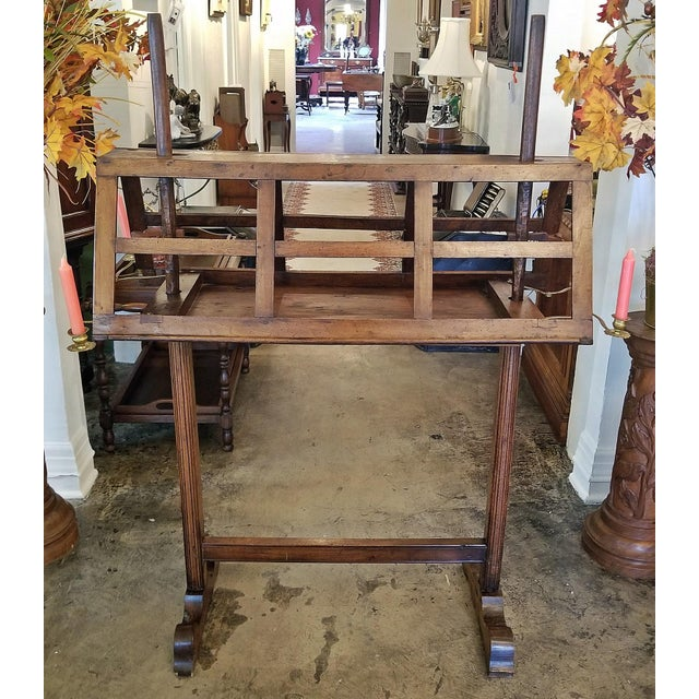 18c French Extra Large Walnut Duet Stand For Sale - Image 13 of 13