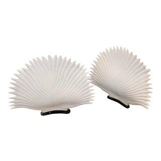 Italian Bisque Porcelain Lamps- A Pair For Sale