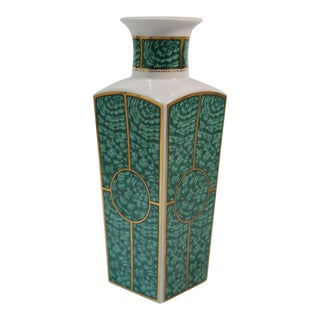 Georges Briard Imperial Malachite Vase For Sale