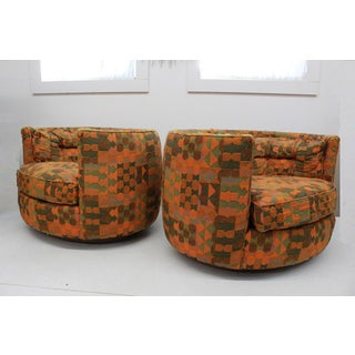 Mid Century Modern Flair -Bernhardt Pair of Upholstered Chairs Preview