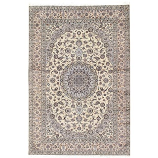 "Pasargad Persian Nain Silk & Wool Rug - 8'1"" X 11'1"" For Sale"