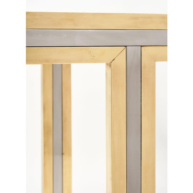 Metal Romeo Rega Signed Console Table For Sale - Image 7 of 10