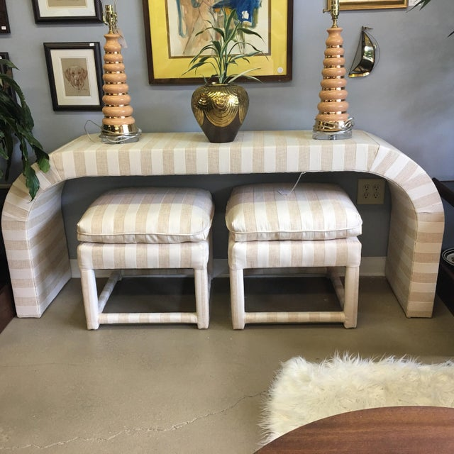 Vintage 1970s Waterfall Console Table - Image 4 of 11