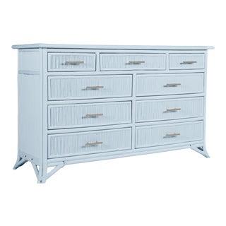 Aruba Nine-Drawer Dresser - Blue For Sale
