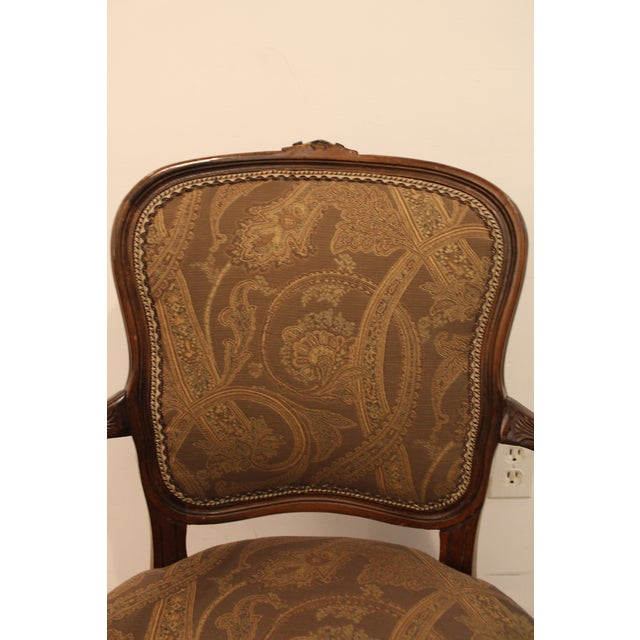 Vintage French Carved Ladies Fauteuil Arm Chair - Image 5 of 11