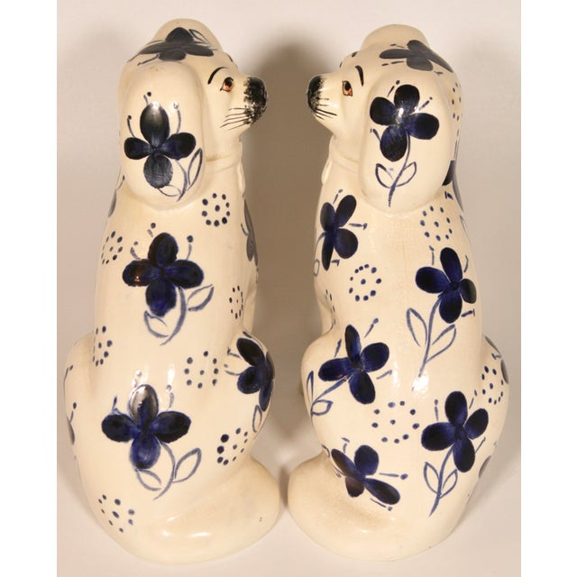 Antique Blue and White Staffordshire Dogs - a Pair For Sale In Tulsa - Image 6 of 12