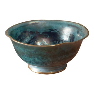 Josef Ekberg Large Lustreware Ceramic Bowl for Gustavsberg, Sweden, 1929 For Sale