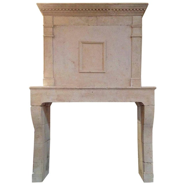 Stone Louis XIV Limestone Mantel, circa 1780 For Sale - Image 7 of 7