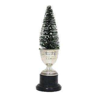 1946 Motorcycle Trophy W/ Bottle Brush Tree For Sale