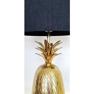 Vintage Solid Brass Pineapple Bedside or Desk Lamp - Feng Shui - Palm Beach Boho Chic Tropical Coastal Preview