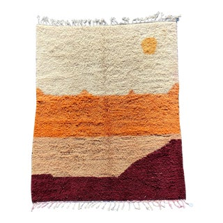 Modern Hand Made Moroccan Rug For Sale