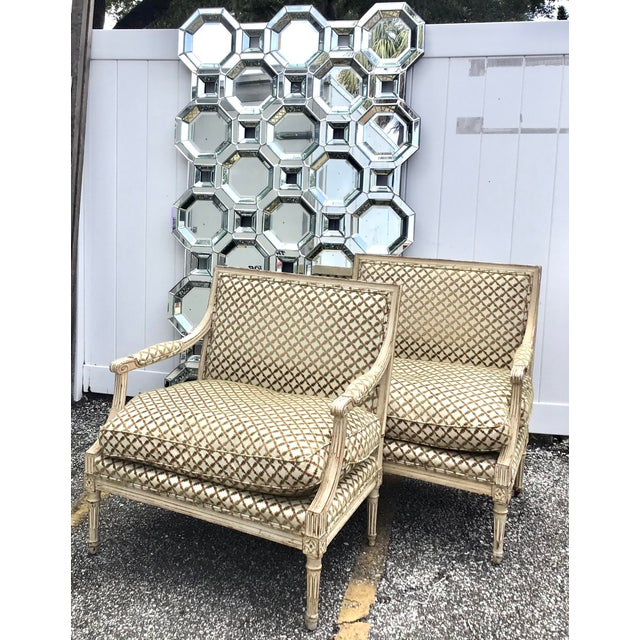 Early 21st Century Monumental Size Mid Century Style Geometric Wall Mirror For Sale - Image 5 of 7