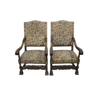 19th Century Regency Style French Armchairs - A Pair For Sale