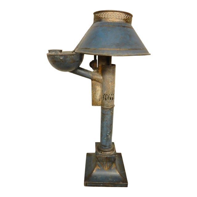Early 19th Century French Tole Oil Lamp For Sale