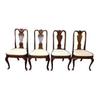 1990s Hickory Chair Mahogany Dining Chairs - Set of 4 For Sale