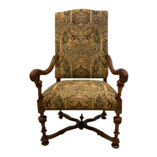 Louis XIV Carved Walnut Fauteuil a La Reine For Sale