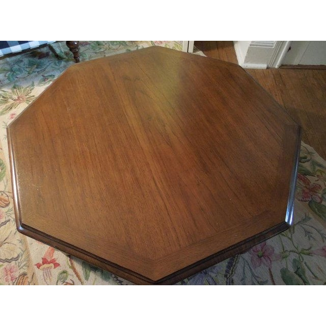 Wooden Octagon Shape Coffee Table - Image 4 of 7