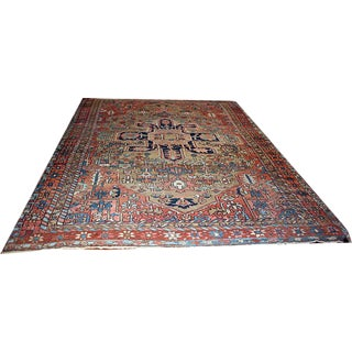 Early 20th Century Antique Persian Heriz/Serapi Rug - 8′9″ × 12′3″ For Sale
