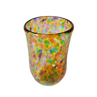 Contemporary Hand Blown Art Colorful Glass Signed and Dated in the Style of Italian Glass For Sale