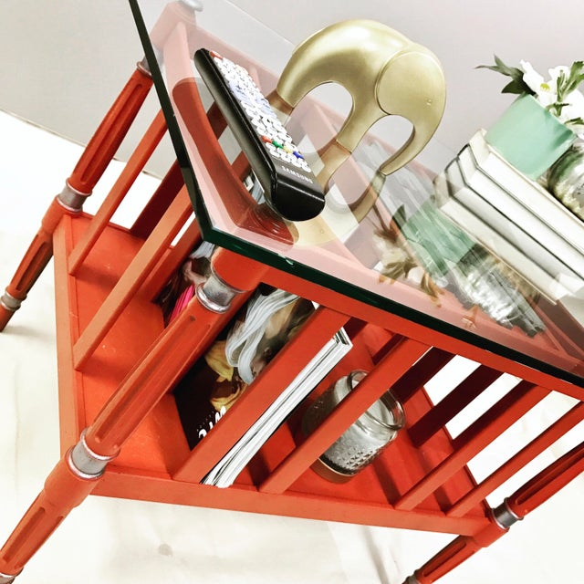 Magazine Rack Glass Top Coffee Table - Image 8 of 9