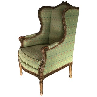 Elegant French Louis XVI Style Bergere For Sale