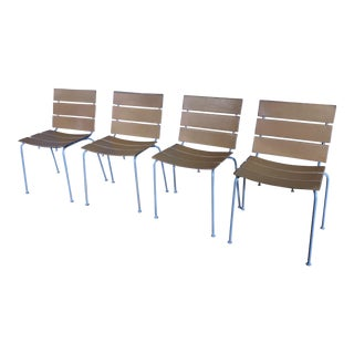 Giancarlo Vegni Leather Strap Dining Chairs- Set of 4 For Sale