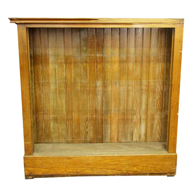 Wooden Narrow Bookcase For Sale