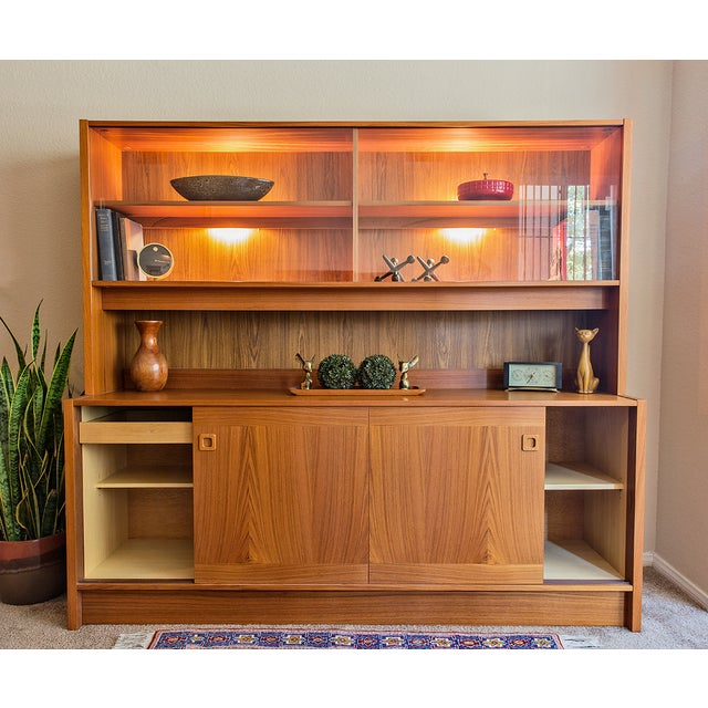 Clausen Møbler Danish Modern Teak Wall Unit/Hutch - Image 5 of 8
