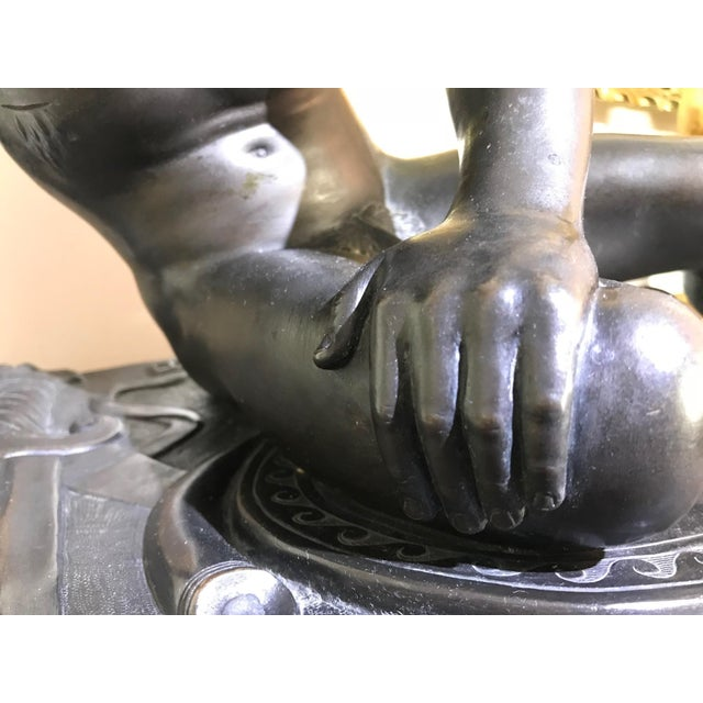 """19th Century """"The Dying Gaul"""" Bronze Statue Signed M Amadoi N 'Napoli' For Sale - Image 12 of 13"""