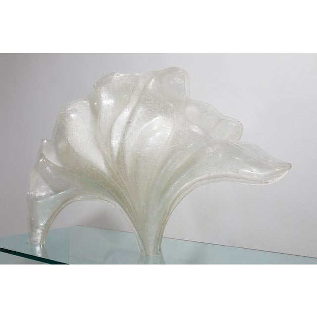 Rare Rougier Lucite Shell Lamp For Sale - Image 9 of 9