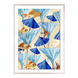 Zanzabar Collage 3 by Lulu DK in White Wash Framed Paper, Small Art Print For Sale