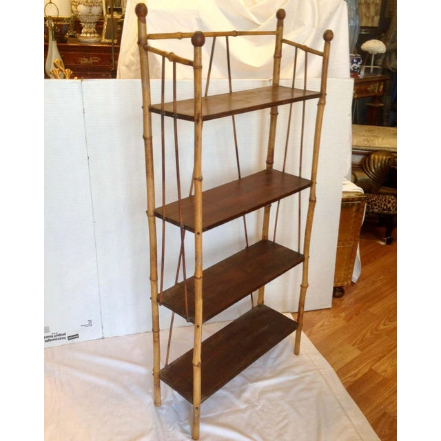 English 19th Century English Bamboo Bookstand / Étagère For Sale - Image 3 of 13